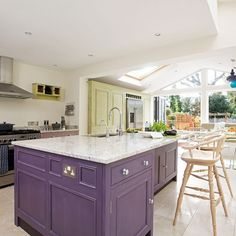 Zoned kitchen extension | Kitchen extension | PHOTO GALLERY | Beautiful Kitchens | Housetohome.co.uk