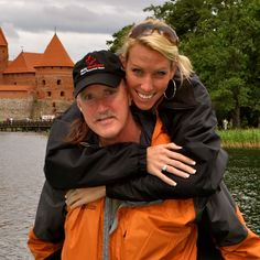 Andie & her Dad at Trakai Castle.