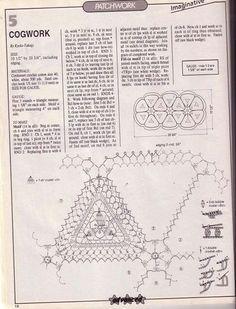 Tablecloth of triangular motifs