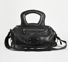 BALENCIAGA BLACK SHOULDER BAG