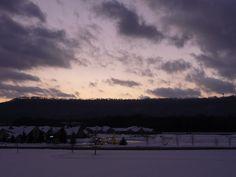Evening sky over snow.....