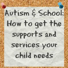 Tips on working with your child's school to get the supports and services they need.