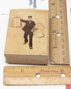 WALKING MAN HOLDING BLANKS BY MARKS OF DISTINCTION RUBBER STAMP… Walking Man, Grid, Stamp, Things To Sell, Stamps