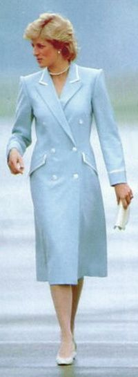 1987. Diana in a Catherine Walker coat which she first wore for Easter service at Windsor.
