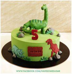 Dinosaurs - Cake by Margarida Abecassis Dinosaur Birthday Cakes, 4th Birthday Cakes, Dinosaur Party, Baby Cakes, Dino Cake, Dinosaur Cake Pops, Cakes For Boys, Savoury Cake, Cake Decorating