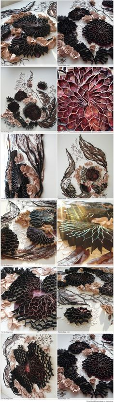 Delicate art from recycle materials and food waste