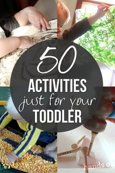 50 Activities just for your Toddler // 50 actividades para niños pequeños Toddler Play, Toddler Learning, Baby Play, Toddler Preschool, Toddler Crafts, Toddler Stuff, Kid Stuff, Craft Activities For Kids, Infant Activities