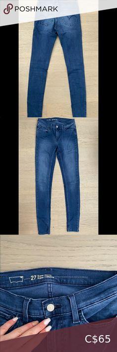 Levi's 710 Girls Super Skinny Jeans Denim Distressed NWT Pink or Blue 7 8 12 14