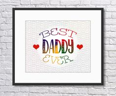 Fathers Day Print, Love my Daddy, Love my Dad, Printable Art, Best Dad Ever , Instant Download, Digital Print, Love my Dad Art by SBsPrintables on Etsy