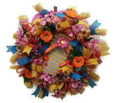 Summer Flip Flop Wreath, Summer Mesh Wreath, Deco Mesh Summer, Flip Flop Wreath, Flip Flop Mesh Wreath, Summer Deco Mesh Wreath, Summer Wreath for $85.00 by Kayla's Kreations at www.kaylaskreationstx.etsy.com