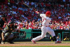 Matt Holliday hits a game-winning RBI single in the seventh inning against the Pittsburgh Pirates. Cards won 5-4.  9-01-14