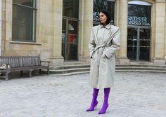 Those boots!!!  Gilda Ambrosio in Balenciaga