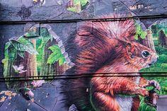 Fellow Glasgow Residents, street art by Smug