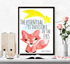 The little prince printable little prince quote by SoulPrintables