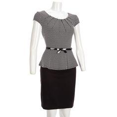 Merona 174 women s sweetheart neckline ponte dress black assorted