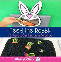 This is an interactive activity for your students to learn word associations, antonyms, and object functions.  Students can dig for carrots in a sensory bin, then 'feed' them to the rabbit while discussing the vocabulary concepts.  Great for speech therapy, small group instruction, and literacy centers.***************************************************************************Included in the download: Photos and activity suggestions Rabbit Template 20 Object Function Cards 20 Object…