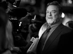 John Goodman attends the 'Trumbo' premiere during the London Film Festival at the Odeon Leicester Square in London, (Image has been converted to black and white)  Tristan Fewings, Getty Images for BFI