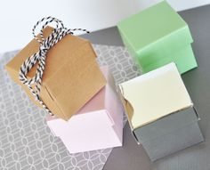 DIY Mini Cube Boxes (set of 12)