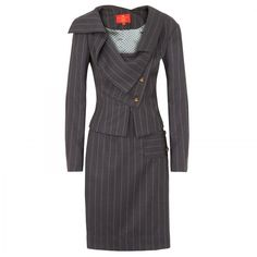Vivienne Westwood Red Label Pinstripe skirt suit x. Business Outfits, Office Outfits, Business Fashion, Business Wear, Office Wear, Business Women, Vivienne Westwood Suit, Suit Fashion, Fashion Outfits
