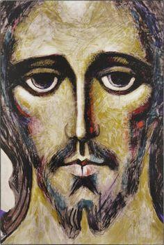 Artwork of Jesus Christ Our Savior Images Of Christ, Pictures Of Christ, Religious Pictures, Religious Icons, Religious Art, Anima Christi, Christian Artwork, Candle Art, Jesus Face