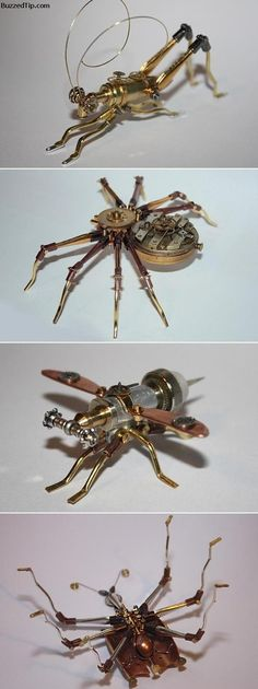 Steampunk bugs.... so cool!