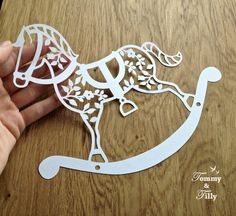 3 x Rocking Horse DIY Papercut Designs - with PERMISSION TO SELL FINISHED CUTS Whether papercutting is your hobby or your business these