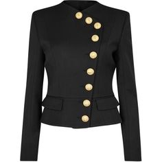 Designer Clothes, Shoes & Bags for Women Balmain Jacket, Padded Jacket, Jacket Buttons, Blazer Suit, Military Jacket, Outerwear Jackets, Coat, Sweaters, Trench
