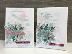 Brush Background, Dry Brushing, Stamping Up, Christmas Cards, Card Making, Joy, Colours, Sandbox, Crafts