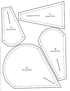 Plantillas de Dresden Plate
