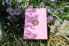 Обложка для паспорта ручной работы — Цветок миндаля
