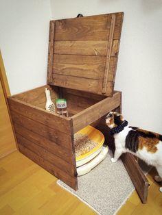 部屋に合わない猫のトイレを隠す◎(いえれぽ No.3661) by キクラゲ   iemo[イエモ]