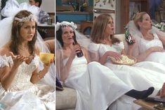 Funny Wedding Dress Inspiration for Jennifer Aniston a la 'Friends'