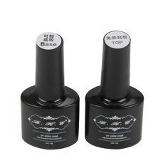 LKE Beste Kwaliteit Top en Base Coat 7 ML langdurige Losweken Vernis Manicure Nail Gel