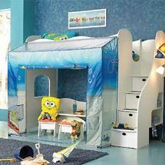 Dormitorios temáticos para niños de Bob Esponja y Dora la Exploradora   Decoración y Moda Infantil