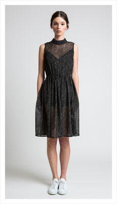 eileen dress (velvet dot)