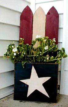 Wood Crafts - Patriotic Planter