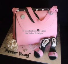 Pink Mary Kay purse with high heels
