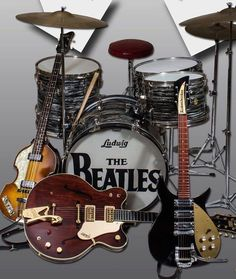 "53 years ago today Four lads from Liverpool shook the world: ""Ladies and Gentlemen. The Beatles."" Link for more! Guitar Guy, Beatles Guitar, Beatles Band, Beatles Love, Les Beatles, Beatles Photos, Guitar Tabs, Beatles Poster, Beatles Lyrics"