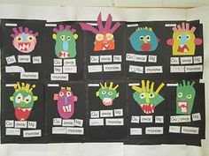 go away big monster - bulletin board  - learning colors and beginning reading
