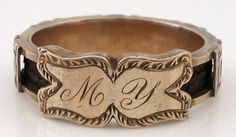 And another... beautiful Victorian Mourning Ring