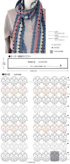 Olá, pessoal! Selecionei algumas ideias charmosas de cachecóis de crochê (com gráficos), para compartilhar com você: Esc...