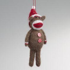 One of my favorite discoveries at WorldMarket.com: Felt Monkey Ornament