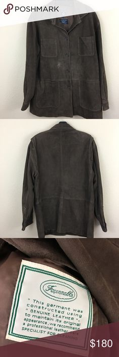 Faconnable real suede leather jacket Very good condition. Has some light scuffs faconnable Jackets & Coats