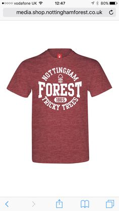 Nottingham forest t-shirt