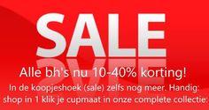 #MEGA #SALE bij #Underfashion! Alle #beha's nu 10-40% #korting, de bh's in onze koopjeshoek zijn zelfs nóg voordeliger! En we hebben iets nieuws gemaakt voor je: Shop in 1 klik je #cupmaat, hoe handig is dat!? Ga naar https://www.underfashion.nl/cupmaat en krijg een compleet overzicht van alle beha's in jouw cupmaat die bij Underfashion.nl verkrijgbaar zijn. Alles bij elkaar: strapless beha's, push up beha's, minimizers, sportbeha's, teenerbeha's en voedingsbeha's.