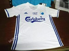 2017/18 FC København Home White Thailand Soccer Jersey AAA