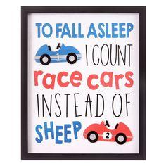 I Count Race Cars Framed Wall Art Print - Nielsen Bainbridge, Adult Unisex, Red Boys Car Bedroom, Boy Car Room, Race Car Room, Toddler Boy Room Decor, Big Boy Bedrooms, Boys Room Decor, Baby Boy Rooms, Race Car Nursery, Car Themed Nursery