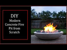 DIY Concrete Gel Fire Pit *EASY*  | Modern Builds | EP. 6 - YouTube