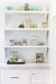 more open shelving