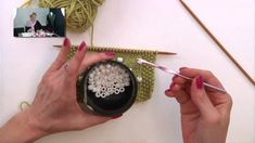 How to add beads to knitting- amazingly simple, just need beads and a crochet hook of similar size to needle